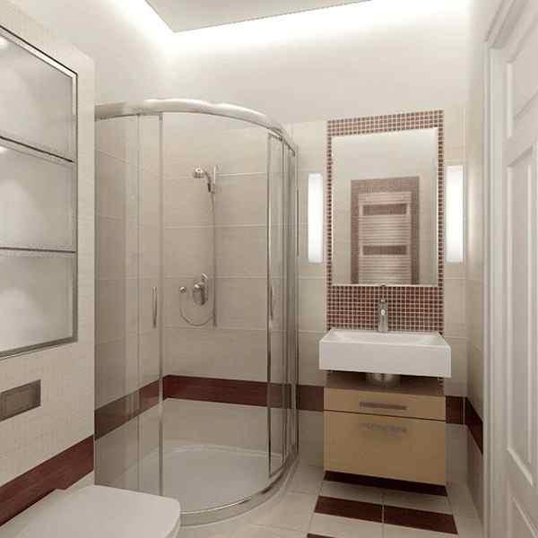 интерьер ванной комнаты фото с душевой кабиной