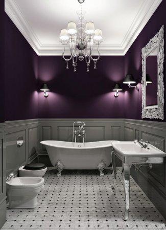 интерьер стен в ванной